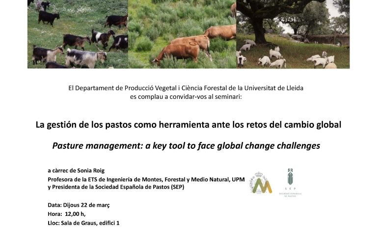 Seminari: Pasture management. A key tool to face global change challenges